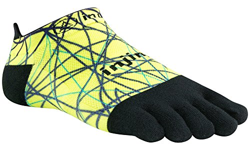 Injinji Run Lightweight No-Show Toesocks (Large, Lime)