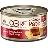Wellness Core Natural Grain Free Wet Canned Cat Food, Beef, Venison & Lamb, 3-Ounce Can - Pack Of 12