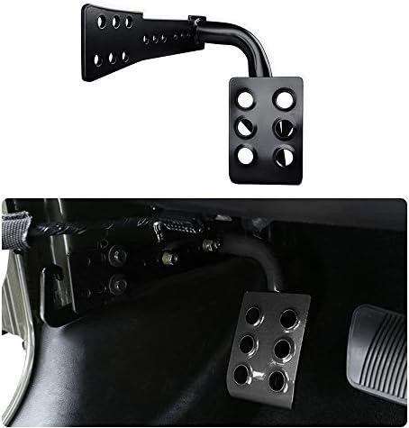 KMFCDAE Dead Pedal Left Side Foot Rest Kick Panel Fit for 2018-2020 Jeep Wrangler JL /& Gladiator JT 2020 Adjustable, Matte Black