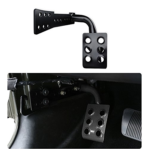 - JeCar Steel Dead Pedal Left Side Foot Rest for Jeep Wrangler JK Unlimited 2007-2018 Rubicon Sahara X Off Road Sport Accessories (Black)