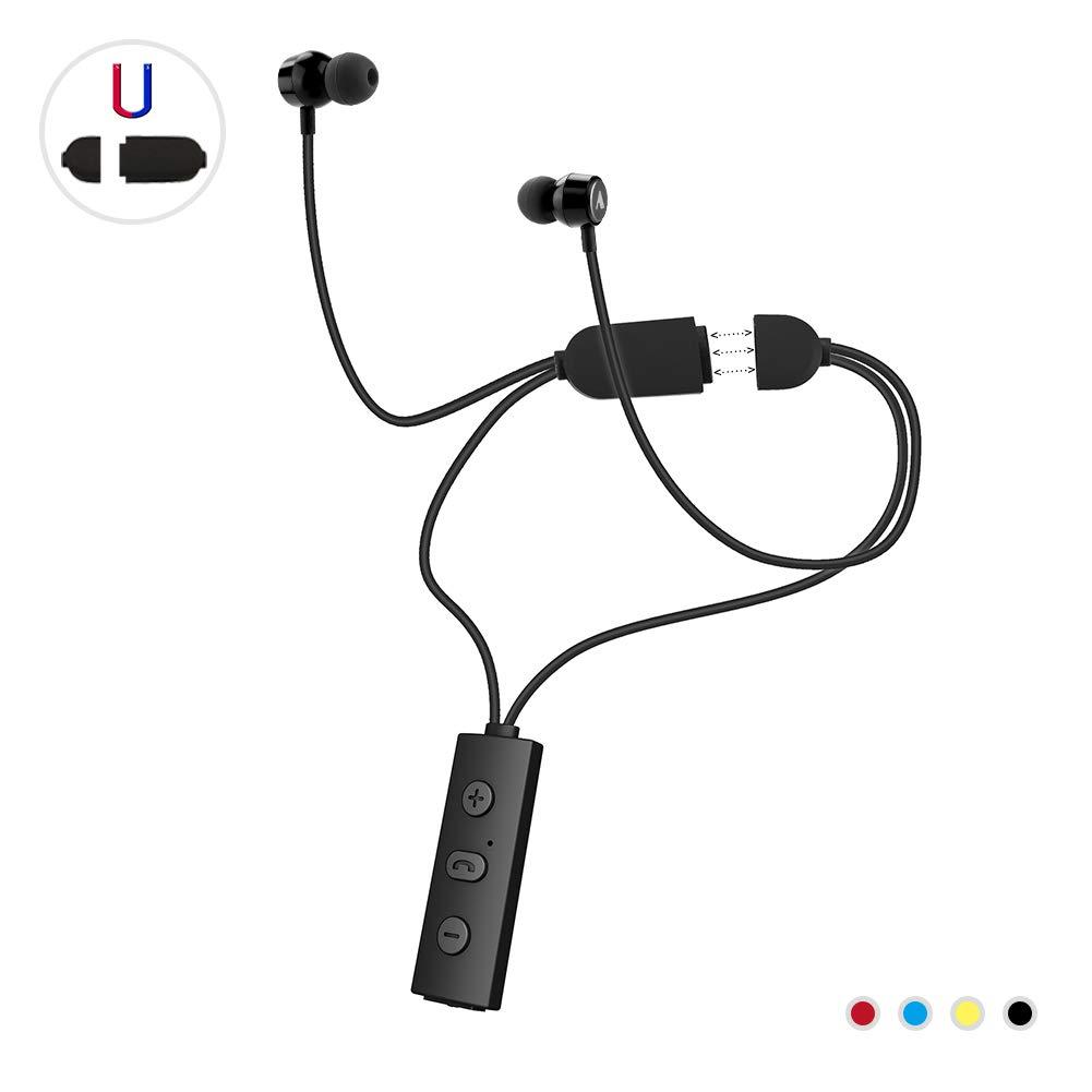 Wireless Bluetooth Headphones-Wireless Magnetic Earphone -Running Headphones for Women Men-Sport Bluetooth Earphones-Best Sport Wireless Earbuds- Outdoor Portable Bluetooth Earphone Black