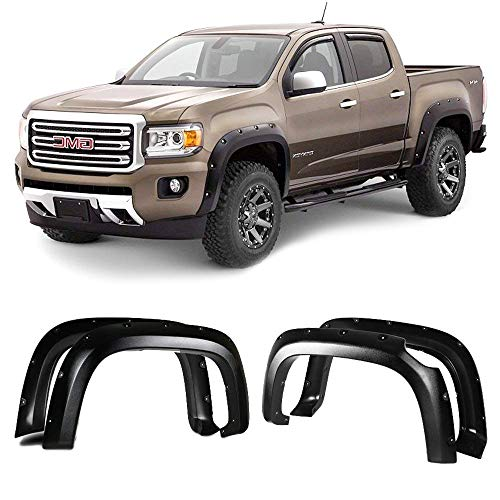 Fender Flares Fits 1999-2007 CHEVY SILVERADO/GMC SIERRA 1500 | Pocket Style Textured Black ABS Front Rear Right Left Wheel Cover Protector Vent by IKON MOTORSPORTS