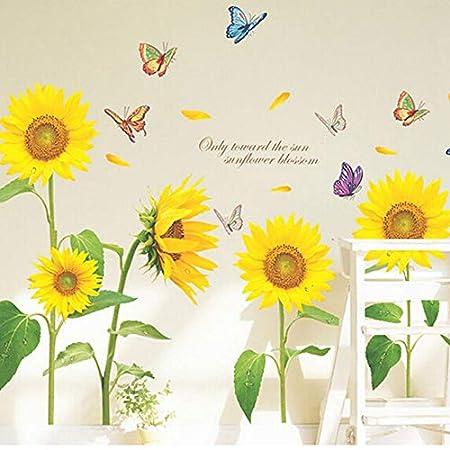 nicebuty Sonnenschein Girasol Mariposa bailar en verano Sch/öne entfernbare pared pegatinas DIY Ni/ños Roo DIY Tools