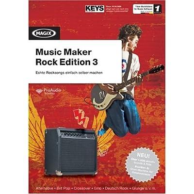 Magix Music Maker Rock Ed. 3 - Software de edición de audio/música (2048 MB, 512 MB, 1 GHz, DVD-ROM, 1024 MB, Alemán)