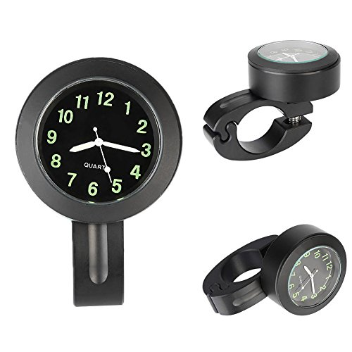 Leaftree - Bike MTB 22-25mm Handlebar Mount Time Clock Waterproof Metal Universal Gauge