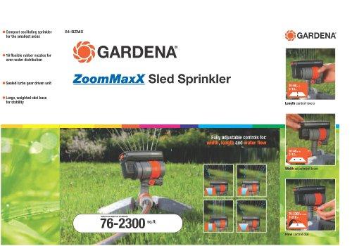 gardena zoommaxx oscillating sprinkler on weighted sled. Black Bedroom Furniture Sets. Home Design Ideas