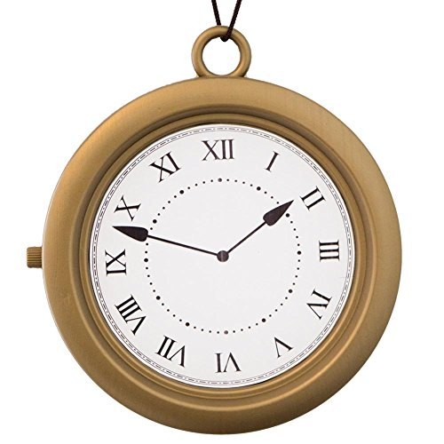 Alice in Wonderland Jumbo Pocket Watch Brown (Pocket Gold White Watch White)