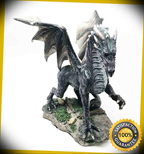 - KARPP Black Shadow Night Dragon Figurine Dream Weaver Legendary Creature Sculpture Perfect Indoor Collectible Figurines