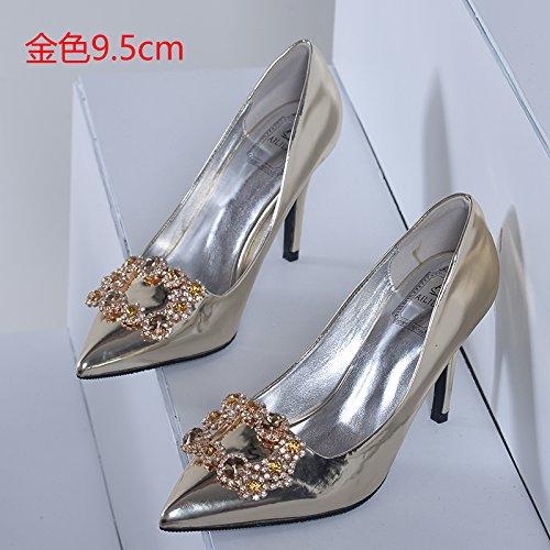Tacones Zapatos perforaci Zapatos boda HUAIHAIZ de agua cristal Botas novia de de de mujer de SdwxHxtqT