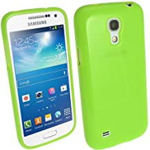 iGadgitz Green Glossy Durable Crystal Gel Skin (TPU) Case Cover for Samsung Galaxy S4 IV Mini I9190 I9195 Android Smartphone Cell Phone + Screen Protector