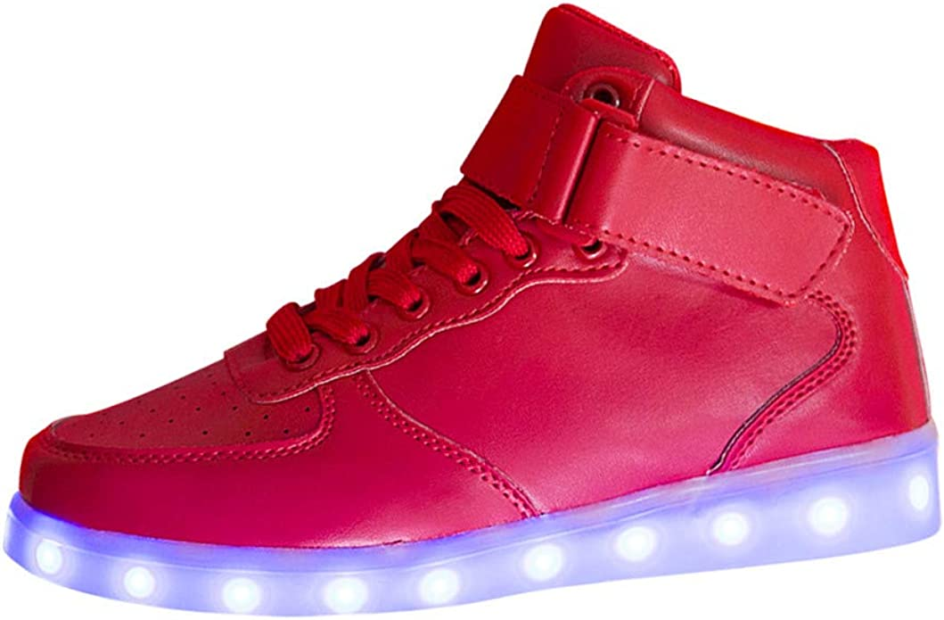 ALIKEEY Neutral Led Luminoso Zapato Moda Luz Casual Sole Brillante Zapato Mujeres Zapatillas Velcro Bandera EspañA Paez Bailarinas Plegables: Amazon.es: Zapatos y complementos