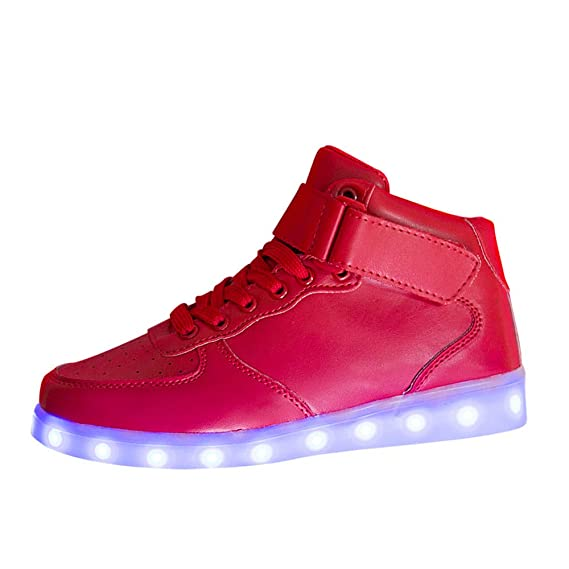 detailed look c1330 2fdb0 SUCES Unisex Sneaker, Damen Mode LED Leucht Schuhe Frauen ...