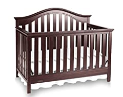 The Graco Bryson Convertible Crib will add simple elegance to your baby's nursery. With large slats, sturdy posts and subtle curves, this crib is a timeless design that's built to last. To easily transition your child from infancy to adulthoo...
