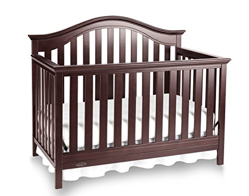 Graco Bryson 4-in-1 Convertible Crib, Espresso, Easily Converts to Toddler Bed Day Bed or Full Bed, Three Position Adjustable Height Mattress, Some Assembly Required (Mattress Not Included)