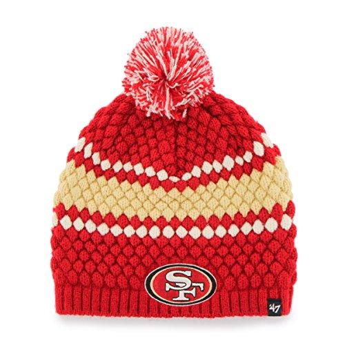 7739a5ba42373 San Francisco 49ers Women s Pom Beanie – Football Theme Hats