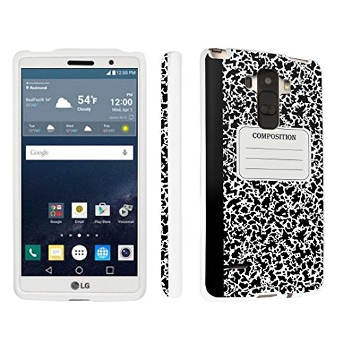 DuroCase ® LG G Stylo LS770 / H631 / MS631 / H634 (Released in 2015) Hard Case White - (Composition Note Book)