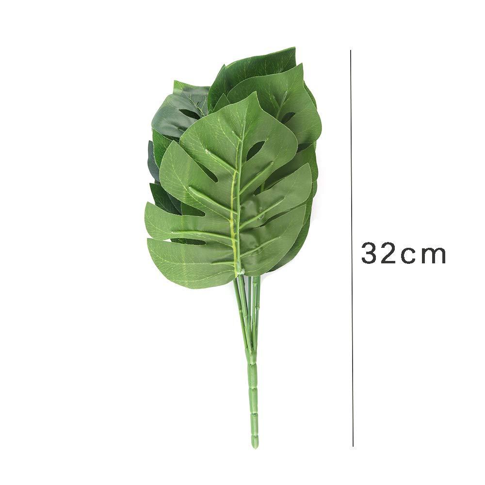 HITECHLIFE Planta Artificial en Maceta de Bamb/ú de Tortuga de 9 Hojas Utilizada para Embellecer la Decoraci/ón del Hogar