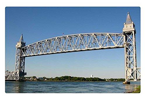iRocket Indoor Floor Rug/Mat - Cape Cod Railroad Bridge (23.6 x 15.7 inches) (Cape Cod Porch)