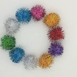 Assorted Color Sparkle Balls ,cat toy,20pcs