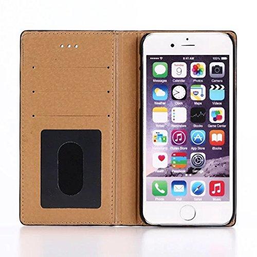 inShang iPhone 7 Funda Soporte y Carcasa para Apple iPhone7 4.7 inch,funda con suporte funzione, con construir-en cartera , Wallet design with card slot Crocodile brown