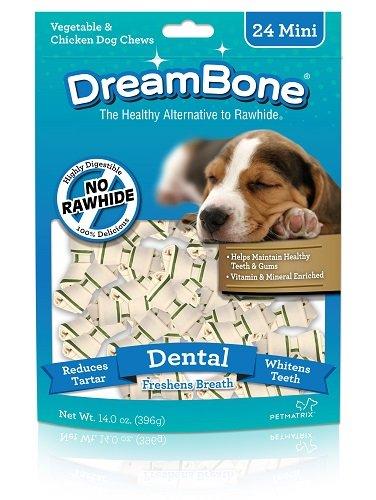 Dreambone Dental Dog Chew, Rawhide Free, Mini, ()
