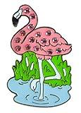 Navika Flamingo Swarovski Crystal Ball Marker with Hat Clip