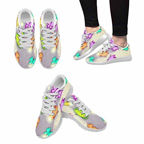 D-story Jogging Running Sneaker Butterfly Womens Casual Comfort Sport Walking Scarpe Da Corsa Bianche