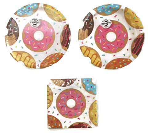 Donut Time Party Plates (16) Napkins (16) Party Bundle ()