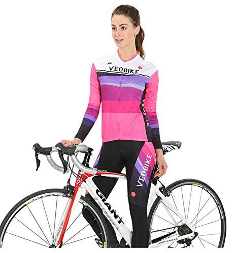 Da Traspirante Rosa Primavera Aooaz Equitazione Completo Maniche Ciclismo E Abbigliamento Autunno Donna A Lunghe 5OqABqxwC