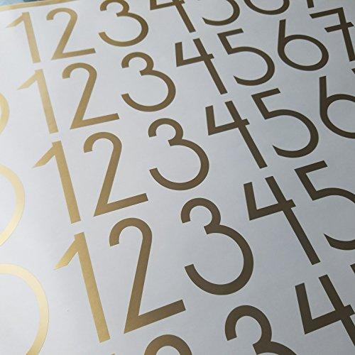 Vinyl Numbers (3 inch Soft Metallic Gold) ()