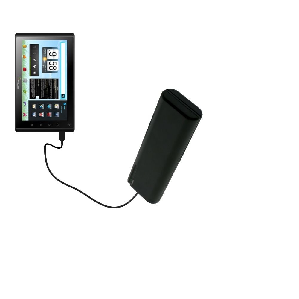 Portable Emergency AA Battery Charger Extender suitable for the VisualLand Connect 7 - with Gomadic Brand TipExchange Technology