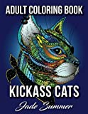 Kickass Cats: An Adult Coloring Book with Jungle Cats, Adorable Kittens, and Stress Relieving Mandala Patterns for Relaxation and Happiness