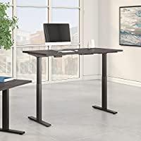 Move 60 Series 60W x 30D Height Adjustable Standing Desk in Storm Gray with Black Base