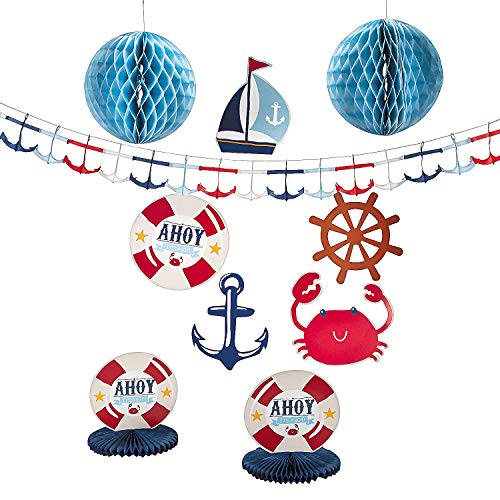 Nautical Baby Shower Decorating Kit - 10 Pieces]()