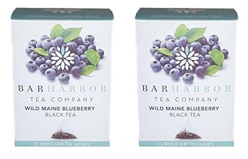 Wild Maine Blueberry Black Tea, Organic, 30 - Wild Black Blueberry Tea
