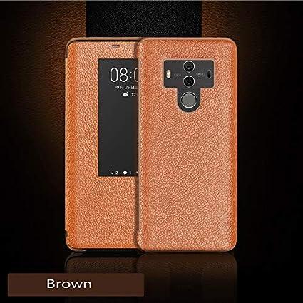 BELLA BEAR Funda para Huawei Mate 10 Pro,Smart View Flip Cover ...