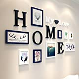 Home@Wall photo frame 9 PCS/Set Home Decoration DIY Photo Frame Sets For Wall Family Picture Frame Sets With Picture Card ( Color : C )