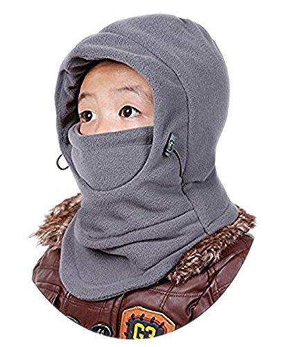 DD.UP MZ Gorro de Invierno para niños, Resistente al Viento, con Capucha de esquí, térmica, Ajustable, para Balaclava
