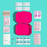 BlingSting First AID KIT - Rose Gold Clutch with 75 Essential Medical Supplies, Mini Compact Safety Emergency Case for Travel, Car, Moms, Office, School, Home, Outdoor Hiking, Camping, Backpacking