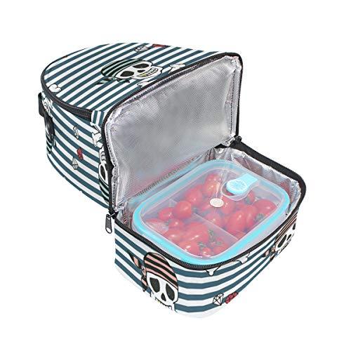 para de calaveras el ajustable térmica almuerzo hombro el Bolsa y piratas para correa diseño con Alinlo qU7S84wxx