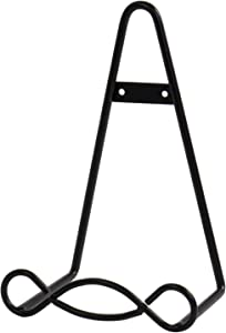 "Red Co. Easel Display Rack Stand for Decorative Home Wall, Unique Loop Design, 8"" W × 5"" D × 11"" H, Black"