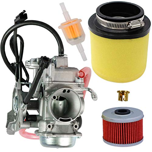 2017 Arctic Cat Atv - 0470-737 Carburetor with 0470-322 Air Filter Oil Filter for Arctic Cat ATV 350 366 400 2008-2017 by TOPEMAI