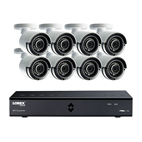 Color Video System (Lorex 8-Channel 4 Mega Pixel DVR Surveillance System with 1TB Hard Drive and H.264 Video Compression, 8x Weather Resistant 4 Mega Pixel Bullet Cameras with 89° Viewing Angle and 130' Color Enhanced Ni)