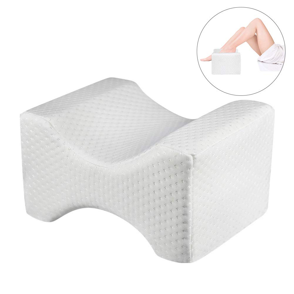 Back Knee Pain Leg Side Sleepers Pregnancy /& Right Spine Alignment Knee Pillow Color : Blue Ideal Choice For Hip Memory Foam Wedge Contour With Washable Cover