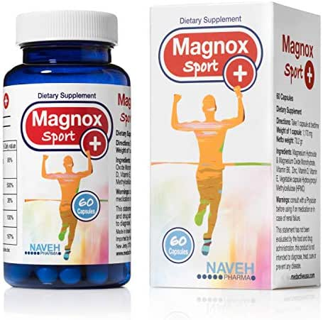 High Absorption Magnesium and Vitamins B6,D,E Complex. Stop Leg Cramps, Sore Muscles, Restless Leg Syndrome Relieve (120 Capsules)