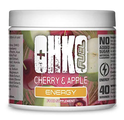 OHKO Fuel Energie - Energy-Drink in Pulverform - Geeignet für Veganer - 40 Portionen - SimplySupplements (Kirsche & Apfel)