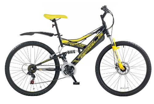 British Eagle Paranoid Men S Mountain Bike Black Yellow 26 Inch