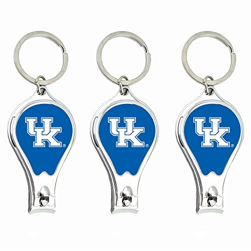 (Worthy Promo NCAA Kentucky Wildcats Nail Clipper with Bottle Opener, Silver, Set of 3)