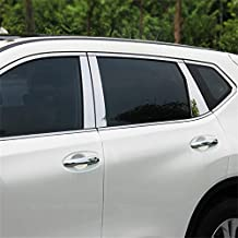 Vesul 8pcs Stainless Steel Window Pillar Posts Trim Cover For Nissan Rogue X-trail 2014 2015