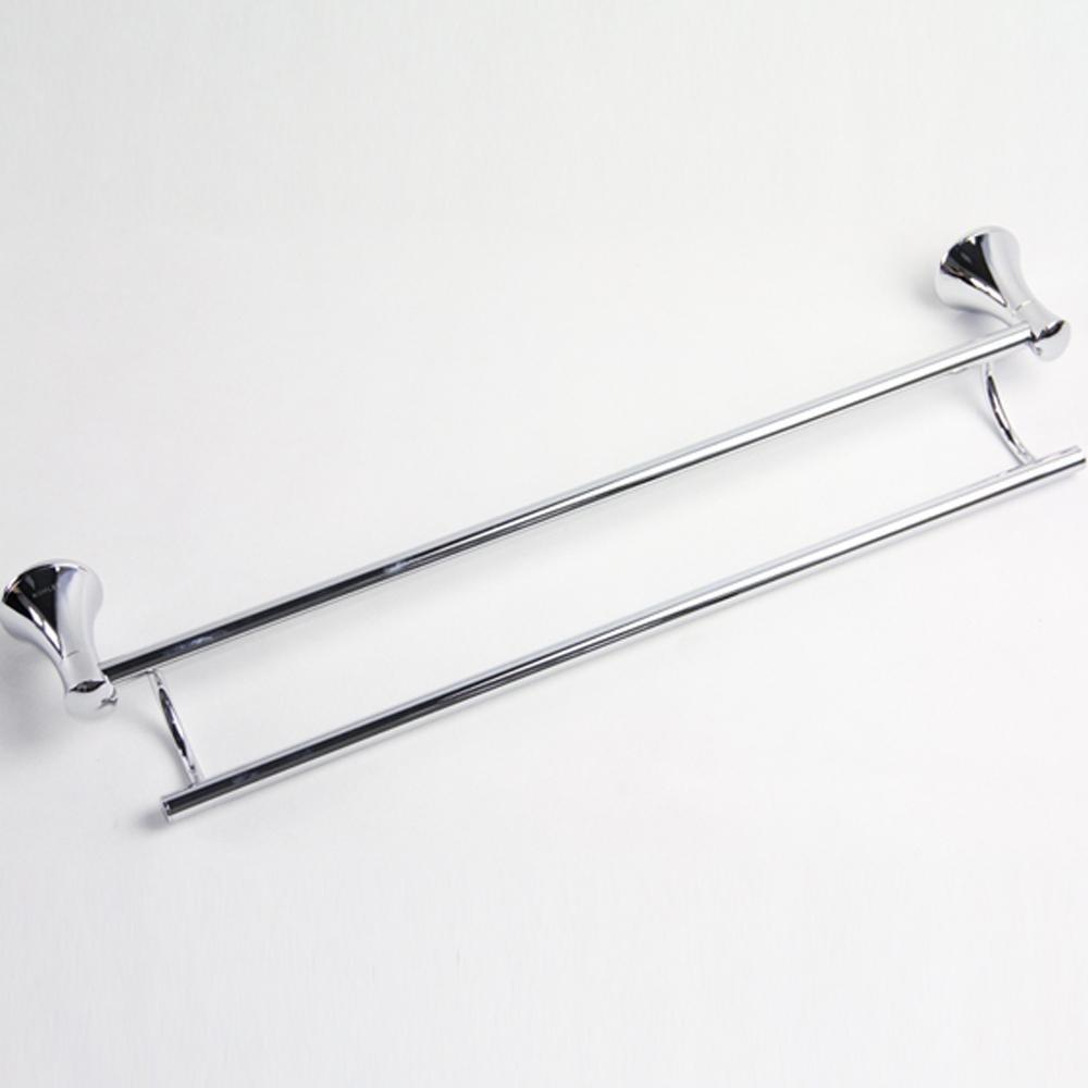 SSBY Modern minimalist bathroom Towel rack, chrome-plated brass, double bar double towel bar